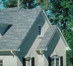 Architectural asphalt roofing mimics the look of slate. Photo: Elk Roofing