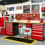 garage workbench cabinets