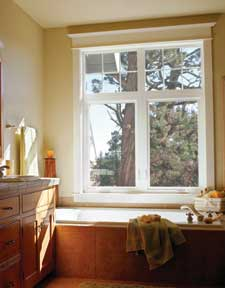 Vinyl window is durable and affordable. Photo: Jeld-Wen