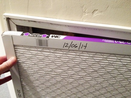 replace and put date on new furnace filter