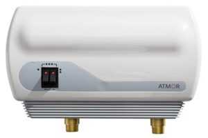 Flow-through point-of-use water heater