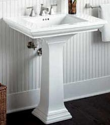 kohler pedestal sink installation instructions