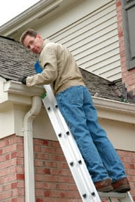 You need to be comfortable (and safe) working at heights if you're going to repair your own roof.