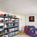 suspended ceiling and shelving