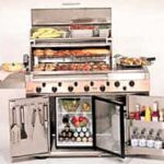 large stainless steel barbecue