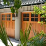 Carriage-Style Wood Garage Doors. Photo: Designer Doors.