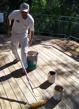 restore and maintain a wood deck