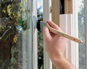 How to paint interior trim hometips for Painting exterior wood windows