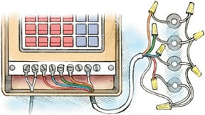 connecting sprinkler timer and wires diagram fiber connecting wired and wireless diagram installing & wiring sprinkler valves | hometips