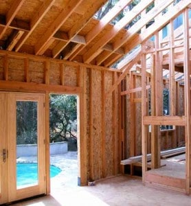 wood framing in house construction