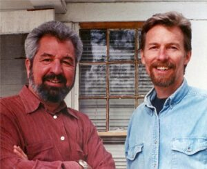 Bob Vila and Don on the set of Home Again