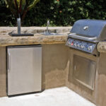 outdoor kitchen barbecue
