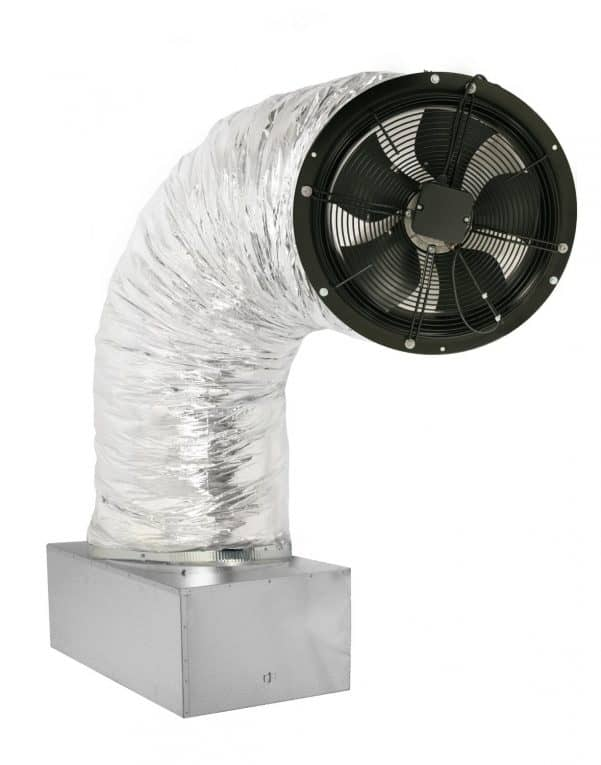ducted whole house fan