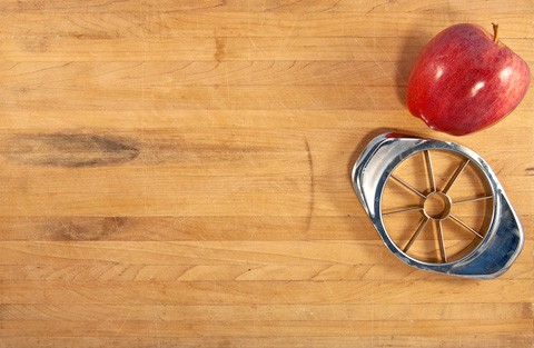 Wooden countertop has natural, organic appeal. Photo: ©Thomas Price | Dreamstime