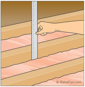 measuring attic insulation