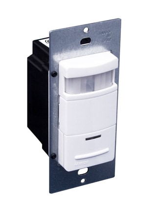 Motion-sensing switch turns on lights when it senses movement within its 180-degree field. Photo: Leviton