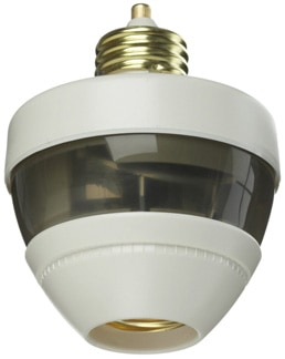 Inexpensive motion detector screws into a light socket, then receives a light bulb. Photo: First Alert
