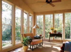 These large double-hung windows combine a classic look with contemporary style. Photo: Jeld-Wen