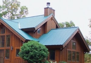 Steel metal roof takes advantage of a broad color range.