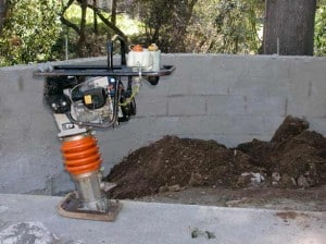 Prior to construction any foundation work and soil compacting must be finished.