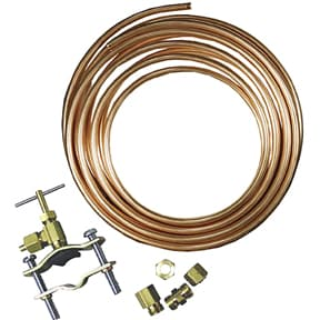 Ice maker repair tap valve and copper tubing