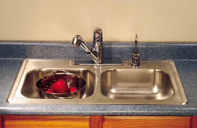 install a kitchen sink