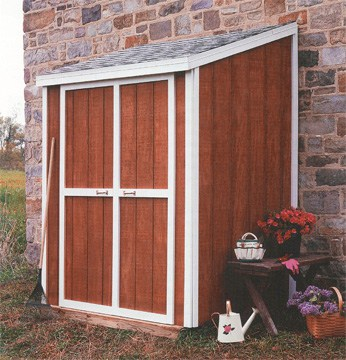 Lean-to shed provides simple shelter for yard gear and more. Photo: Sunset