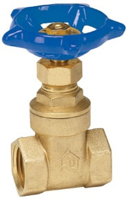 Gate valve controls the water supply to the entire house. Photo: Homewerks