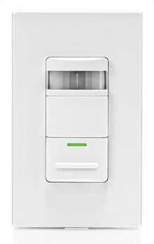 Manual-on occupancy sensor shuts off lights after a preset period upon leaving a room. Photo: Leviton