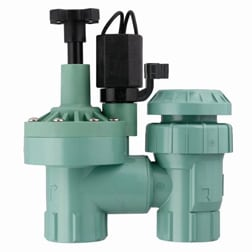 Plastic anti-siphon sprinkler control valve is the most common variety used for residential watering. Photo: Orbit