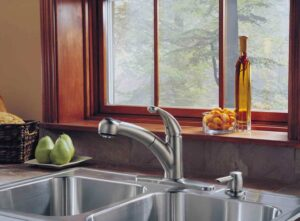 Stainless-steel sink is both practical and beautiful. Photo: Delta