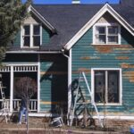 siding repair on Victorian house