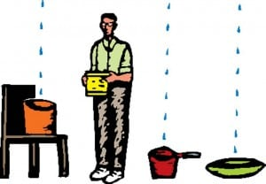 Running out of pots and pans? It's time to fix those roof leaks!