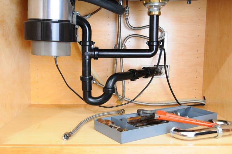 plumbing for garbage disposal install