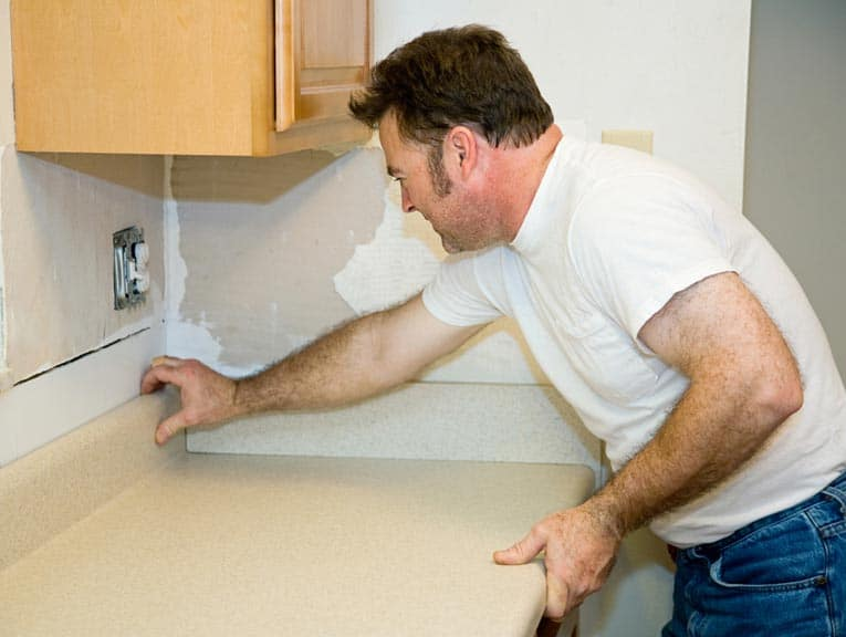 Because making clean, unnoticeable repairs to laminate countertops, it's often best to replace them entirely.