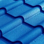blue tile metal roofing