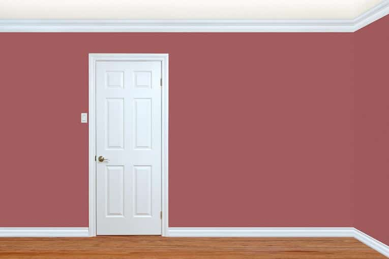 Commonly used interior moldings include base trim, door trim, and cove molding along the top of the wall.
