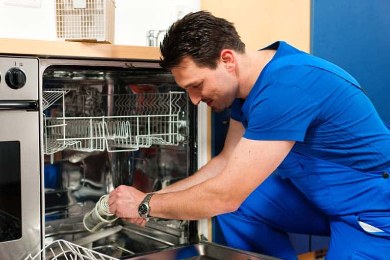 You can handle some types of dishwasher repairs yourself, but if these techniques don't work, call a professional who is certified to handle the make of your appliance.