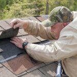 Badly damaged shingles call for replacement. Do your best to find a replacement shingle that closely matches the original roof.