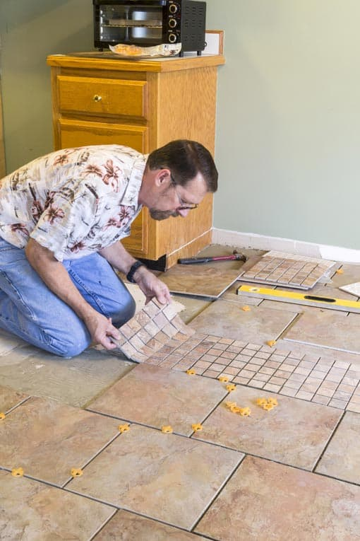 Ceramic or Stone Tile Floor Layout