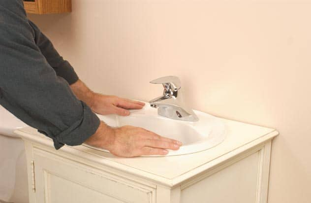 install self rimming sink
