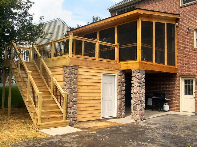 3 ways to create waterproof dry space under a deck for Garage under deck