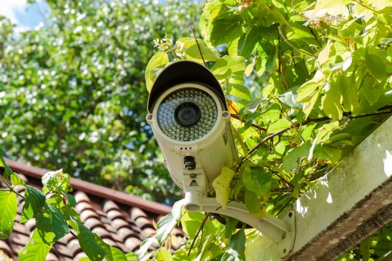 hardwired home surveillance camera