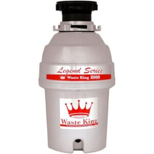 Top-quality garbage disposer offers 1.0 hp, insulated stainless-steel grinding components, and lifetime warranty.