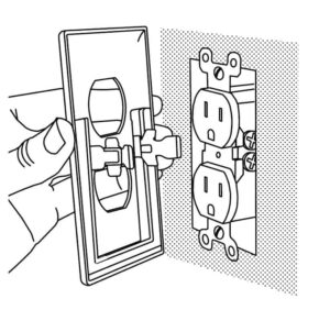Push the new receptacle cover onto the receptacle.