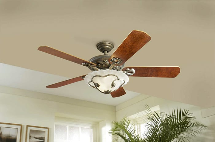 ceiling fan for cooling and light