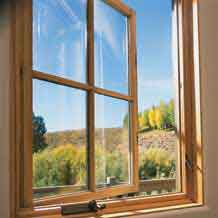 Casement windows crank open to bring the outdoors in. Photo: Pella