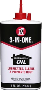 3-IN-ONE multi-purpose oil in 8 oz. squeeze bottle.