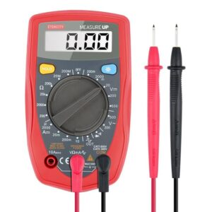 Etekcity digital multimeter including needle-tip red and black probes.