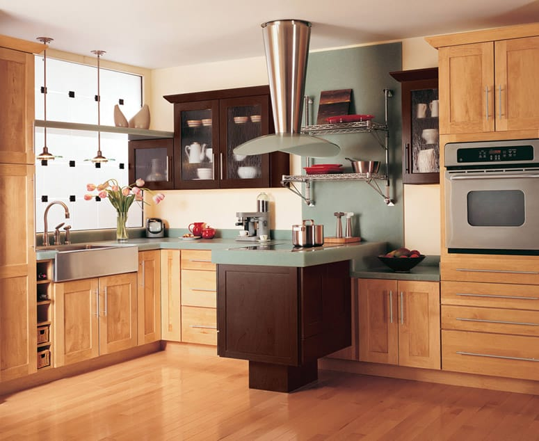 And Where To Kitchen Cabinets Light Dark Finishes Intermix On These Faceframe Maple